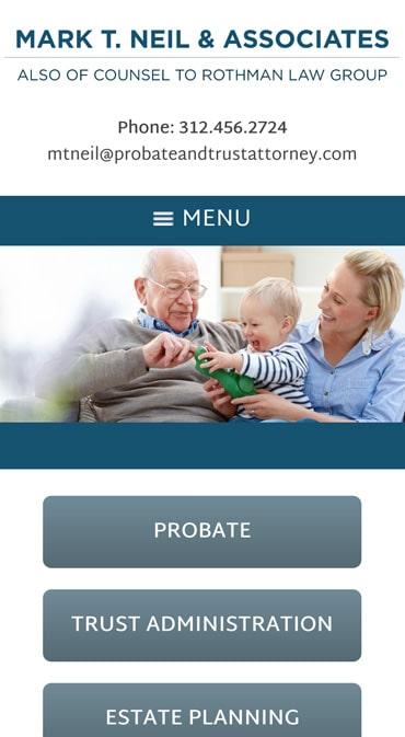 Responsive Mobile Attorney Website for Mark T. Neil & Associates