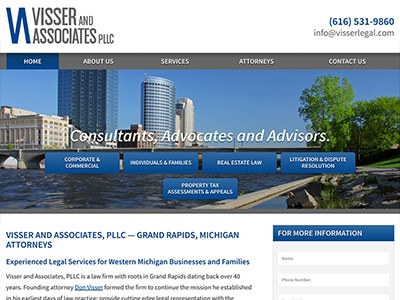 Website Design for Visser and Associates, PL…