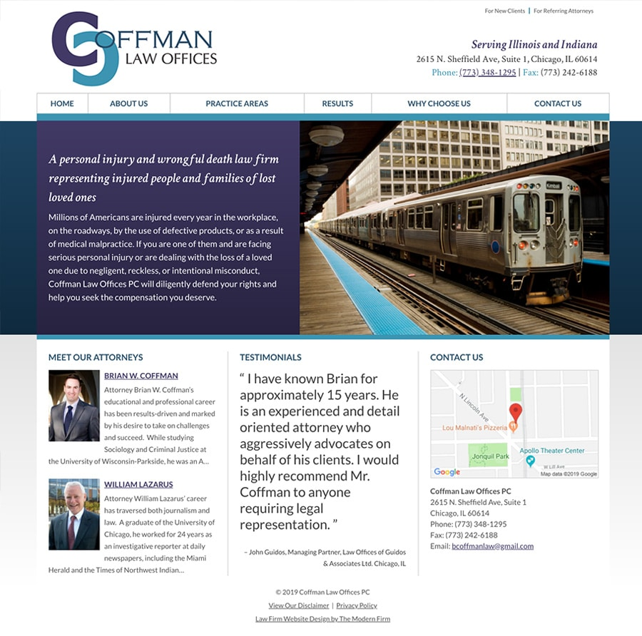 Law Firm Website Design for Coffman Law Offices