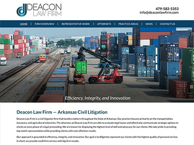 Law Firm Website design for Fayetteville, AR Law Firm…