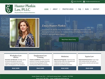 Website Design for Hunter Plotkin Law, PLLC