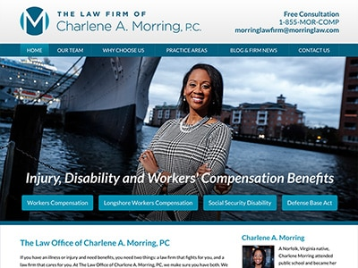 Law Firm Website design for The Law Firm of Charlene…