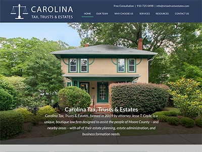 Law Firm Website design for Carolina Tax, Trusts & Es…
