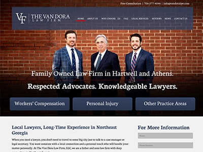 Law Firm Website design for The Van Dora Law Firm