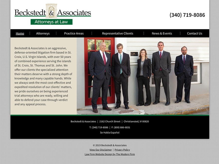Law Firm Website Design for Beckstedt & Associates