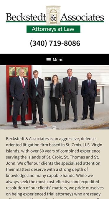 Responsive Mobile Attorney Website for Beckstedt & Associates