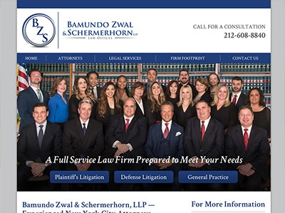 Law Firm Website design for Bamundo Zwal & Schermerho…