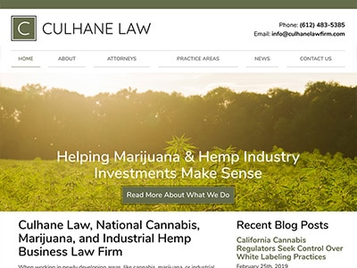 Law Firm Website design for Culhane Law