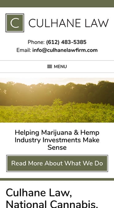 Responsive Mobile Attorney Website for Culhane Law