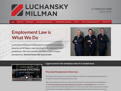 Law Firm Website design for Luchansky Millman