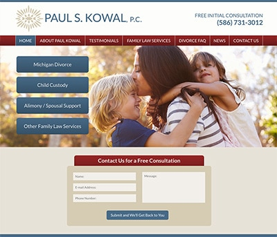 Website Design for Paul S. Kowal, P.C.