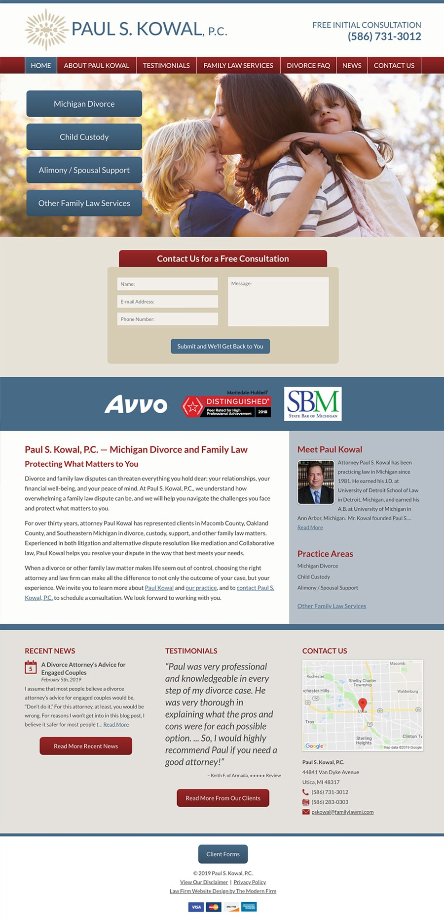 Law Firm Website Design for Paul S. Kowal, P.C.