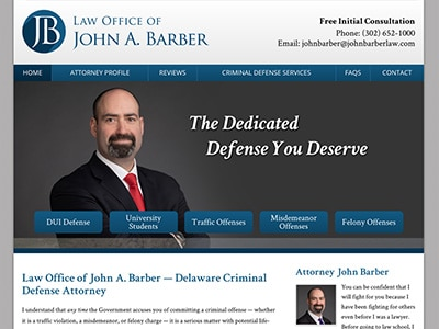 Law Firm Website design for Law Office of John A. Bar…
