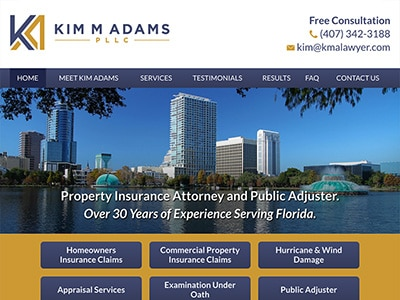 Website Design for Kim M Adams PLLC