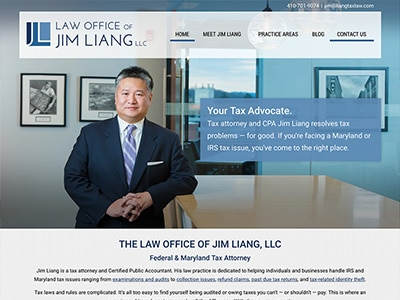 Law Firm Website design for Law Office of Jim Liang,…