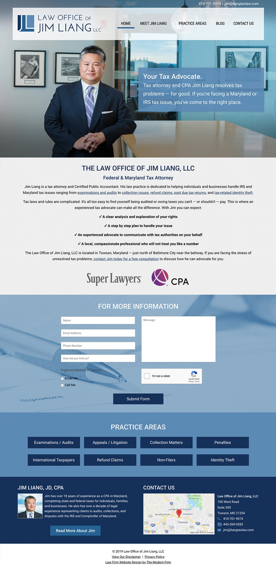 Law Firm Website Design for Law Office of Jim Liang, LLC