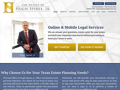 Law Firm Website design for Law Office of Hugh Spires…