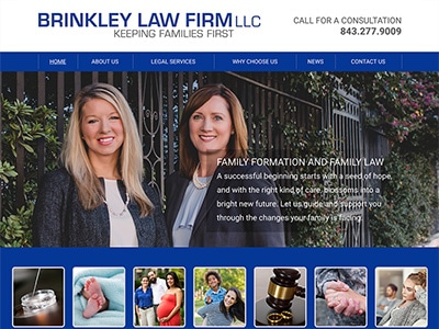 Website Design for Brinkley Law Firm LLC