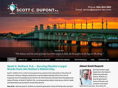 Law Firm Website design for Scott C. DuPont, P.A.