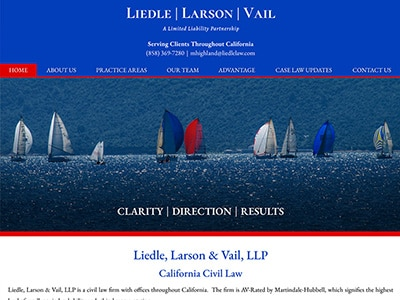 Law Firm Website design for Liedle, Larson & Vail, LL…