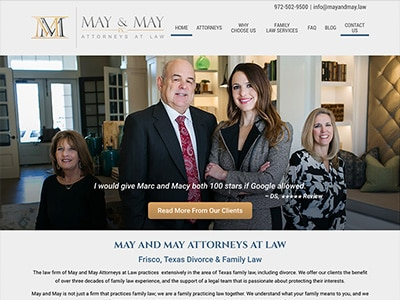 Law Firm Website design for May and May Attorneys at…