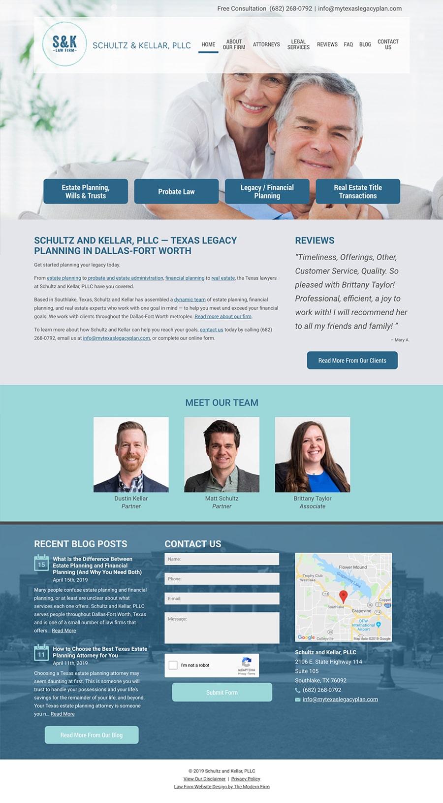 Law Firm Website Design for Schultz and Kellar, PLLC