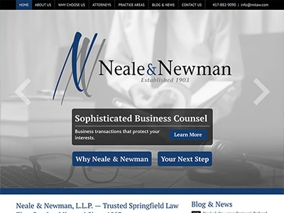 Law Firm Website design for Neale & Newman, L.L.P.