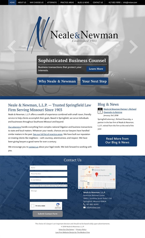 Law Firm Website Design for Neale & Newman, L.L.P.