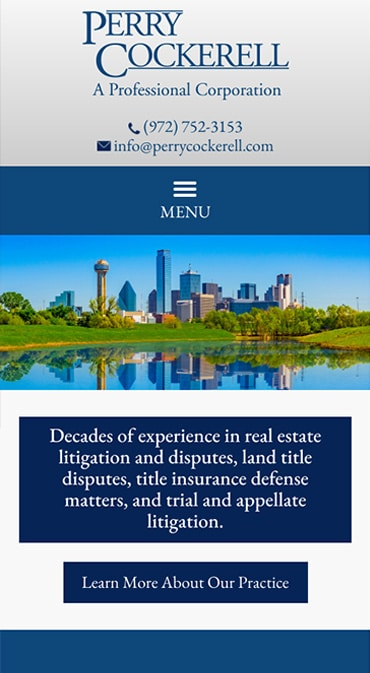 Responsive Mobile Attorney Website for Perry Cockerell, P.C.