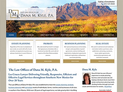 Law Firm Website design for The Law Offices of Dana M…