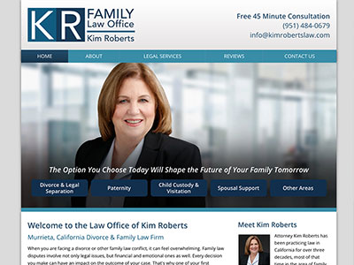 Law Firm Website design for Law Office of Kim Roberts