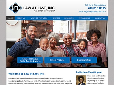 Law Firm Website design for Law at Last, Inc.