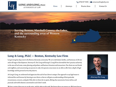 Law Firm Website design for Long & Long PLLC