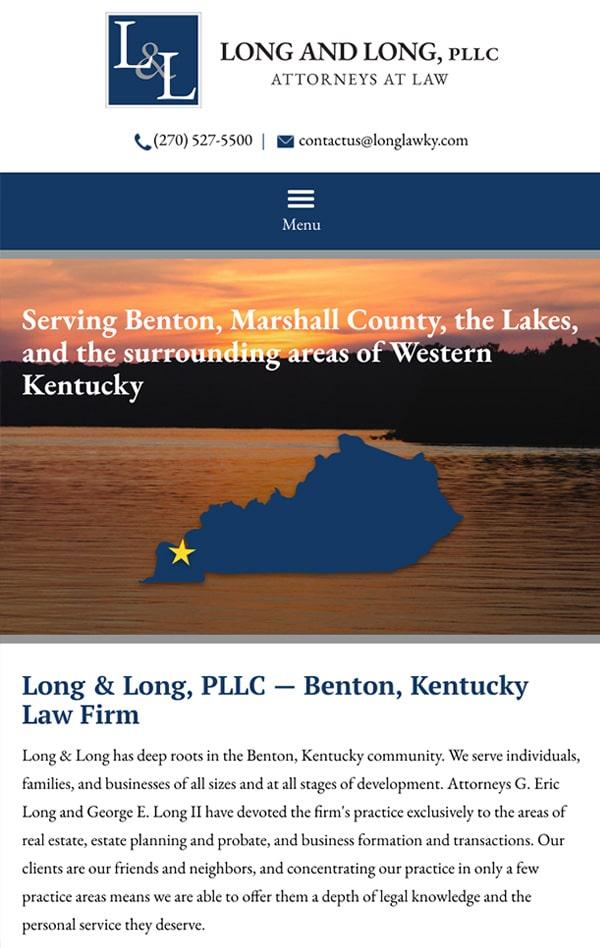 Mobile Friendly Law Firm Webiste for Long & Long PLLC