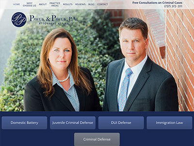 Law Firm Website design for Law Offices of Pawuk & Pa…