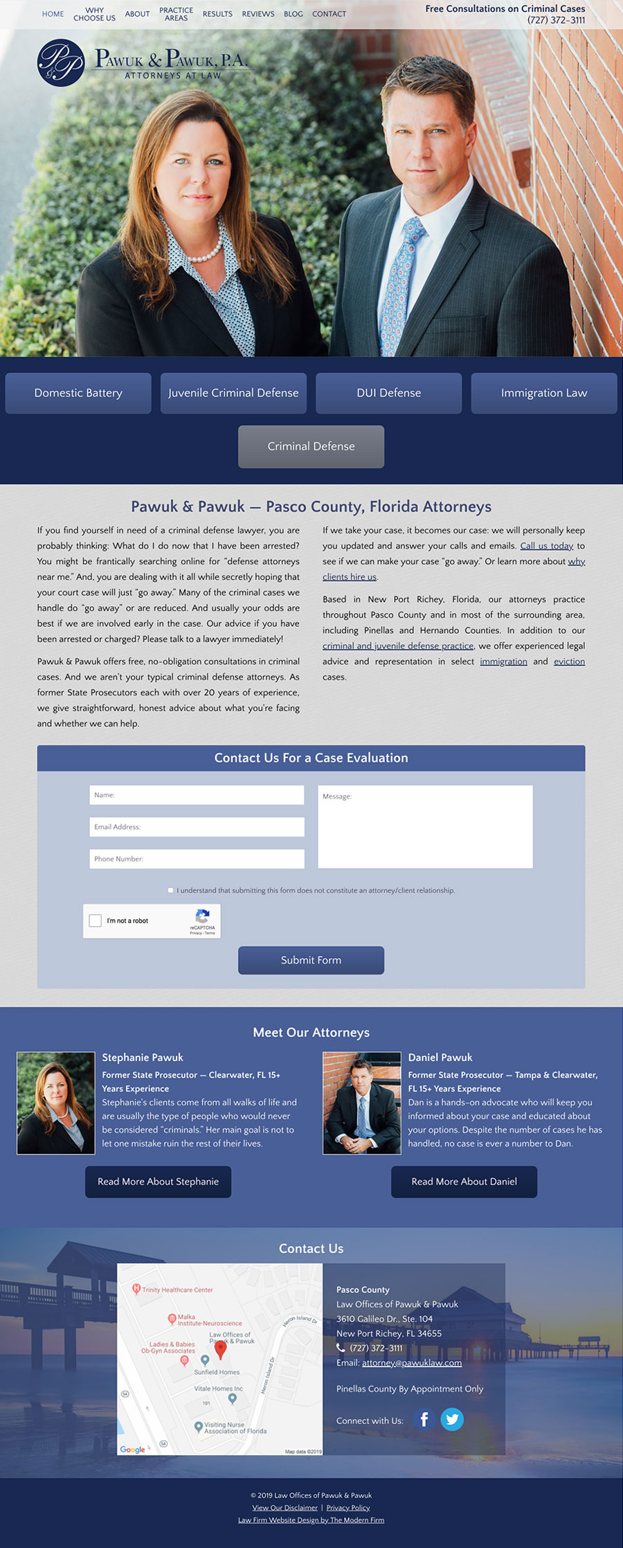 Law Firm Website Design for Law Offices of Pawuk & Pawuk
