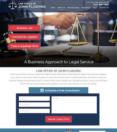 Law firm wbsite design concept Layout #115