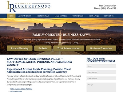 Law Firm Website design for Law Office of Luke Reynos…