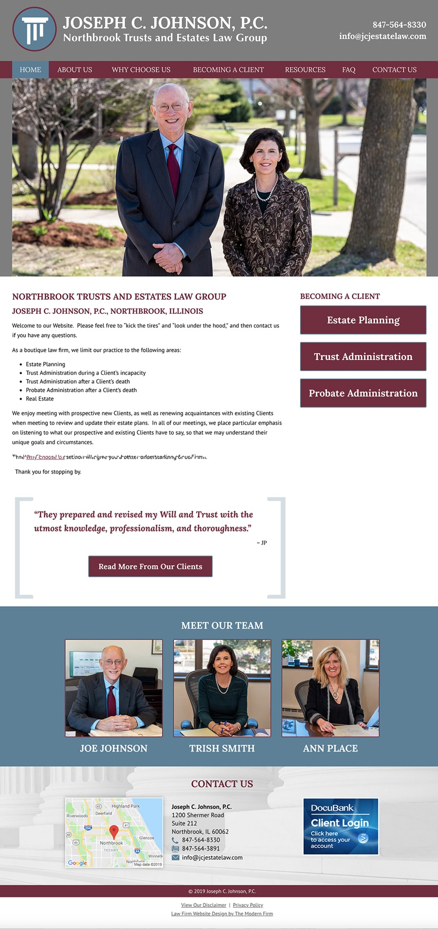 Law Firm Website Design for Joseph C. Johnson, P.C.