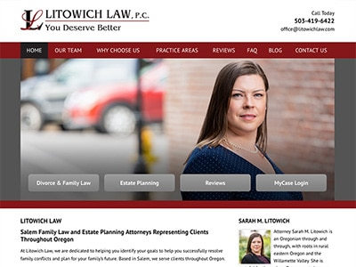 Law Firm Website design for Litowich Law PC