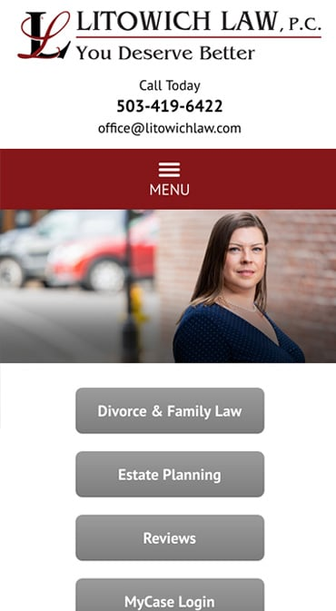Responsive Mobile Attorney Website for Litowich Law PC