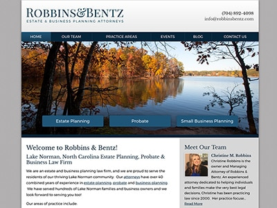 Law Firm Website design for Robbins & Bentz