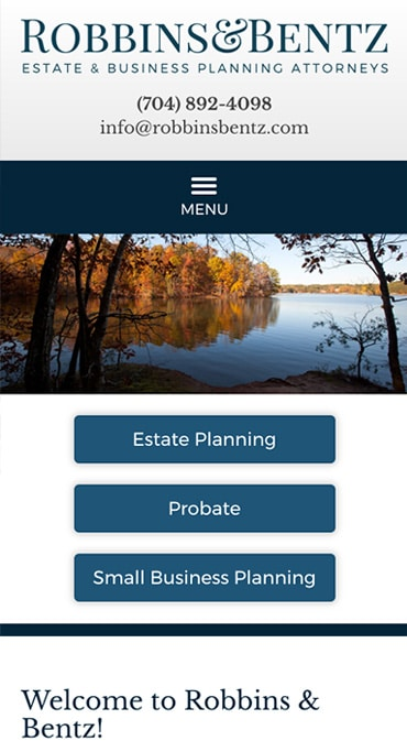 Responsive Mobile Attorney Website for Robbins & Bentz