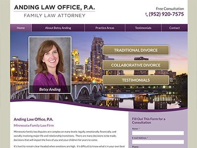 Website Design for Anding Law Office, P.A.