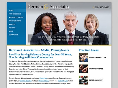Law Firm Website design for Berman & Associates