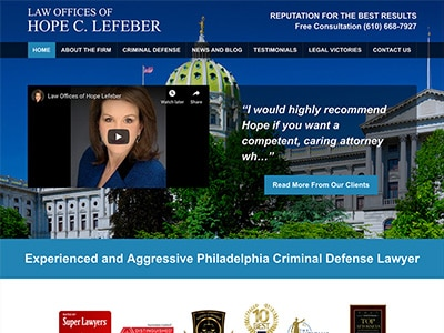 Law Firm Website design for Law Offices of Hope Lefeb…