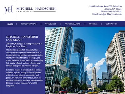 Law Firm Website design for Mitchell - Handschuh Law…