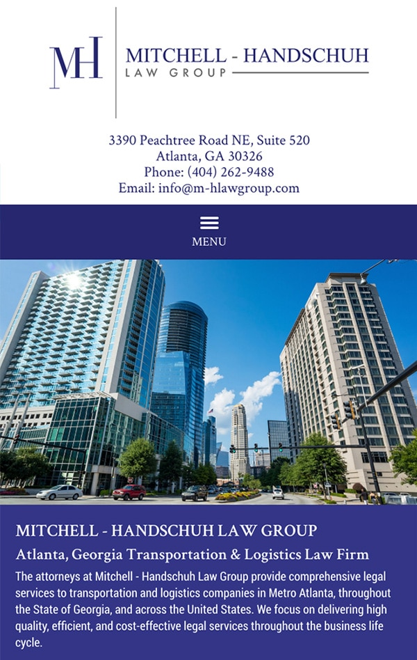 Mobile Friendly Law Firm Webiste for Mitchell - Handschuh Law Group, LLC