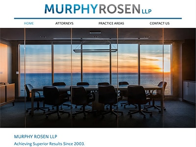 Law Firm Website design for Murphy Rosen LLP