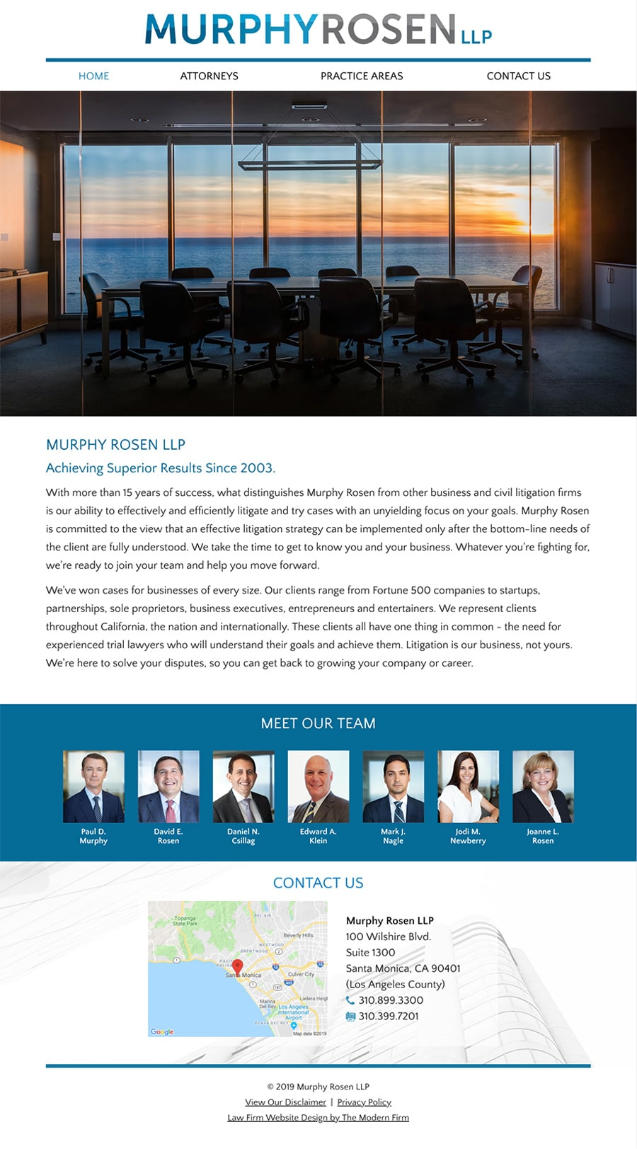 Law Firm Website for Murphy Rosen LLP
